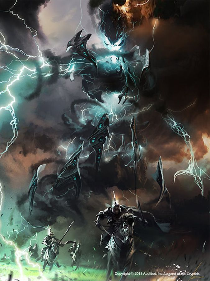 Artist: Ignacio Bazán Lazcano aka neisbeis - Title: gandozum the thunder giant - Card: Unknown