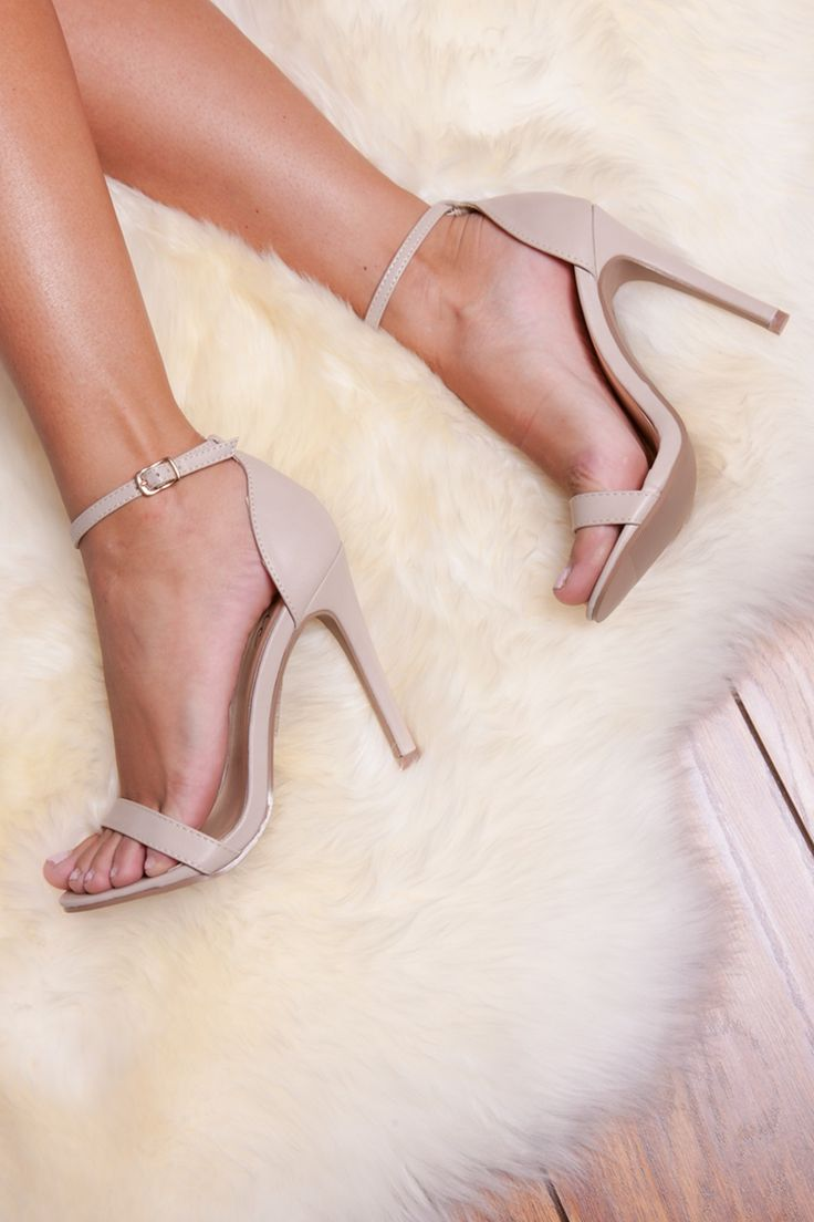 Naomi Nude Strappy Heels at Misspap.co.uk