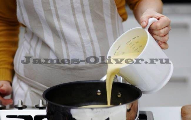 Заварной крем для торта на молоке - рецепт от Джейми Оливера