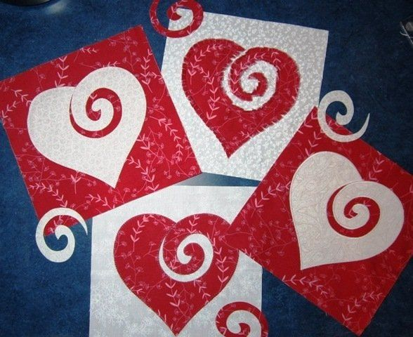 I ♥ Applique!  Applique heart by Mr Minds Eye for Riley Blake Designs