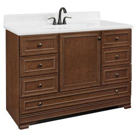 Project Source Bark Traditional Bathroom Vanity Common
