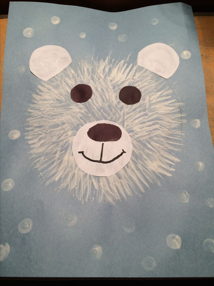 Fork Painted Polar Bear