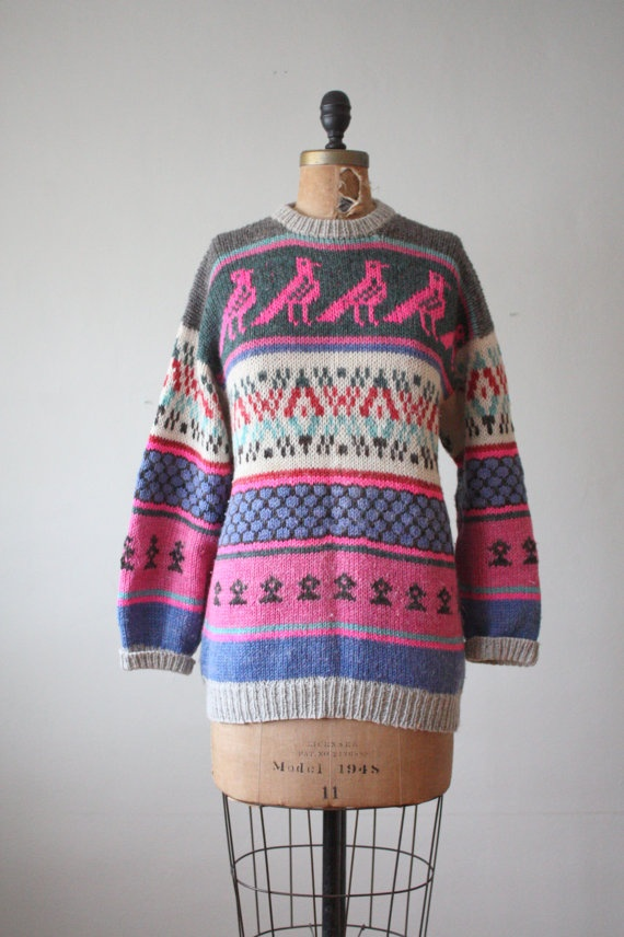 Vintage Bird Sweater by Thrush Yep, I like.. | Dress me up ...