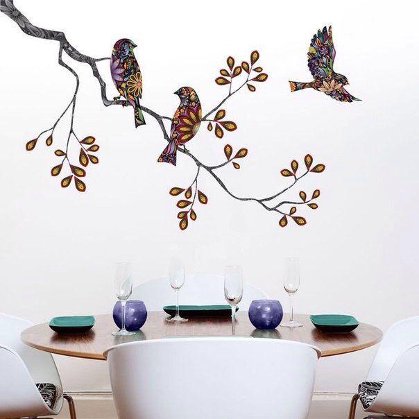 Птицы (из ткани?) / Декор стен / ВТОРАЯ УЛИЦА