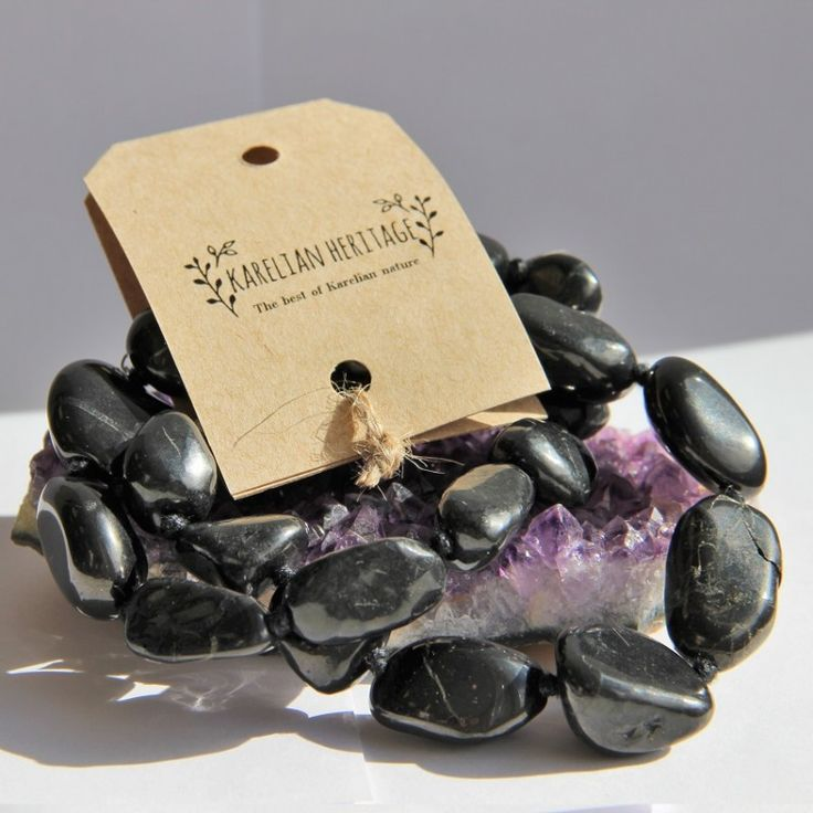 Shungite neclace with healing tumbled beads $26.90