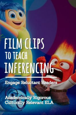"""Why not teach common core standards for English Language Arts using Pixar short films, Ted Talks, popular film clips for students and other inspirational video clips for students? For example, have students practice CCSS.RL.1: Instuct students to watch the Inside Out Video Clip. Ask students to """"Describe how the author used indirect and direct characterization to share each character's personality."""" For an entire year of highly engaging, no prep lesson plans and student activities, download…"""