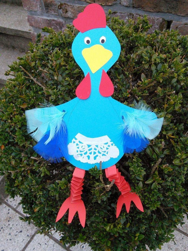 Bricolage paques paulette la poule une poule en papier - Bricolage facile a realiser ...