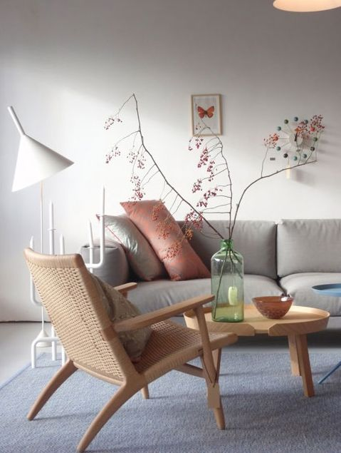 Get this light relaxed look with our lounge chair: http://www.mattblatt.com.au/Replica-Lounge-Chairs/Replica-Hans-Wegner-CH25-Easy-Chair.aspx?p10168c19#10169
