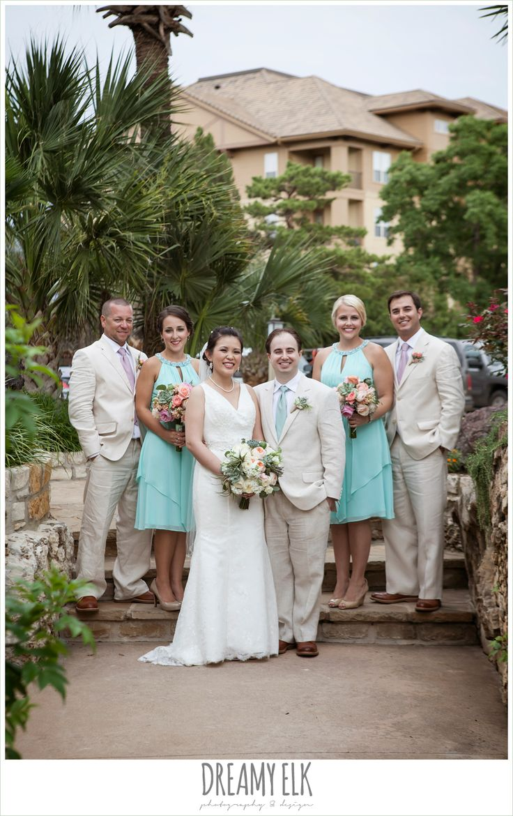 769 best wedding parties images on pinterest marriage bridal party groom and groomsmen in linen suits lace two shouldered wedding dress ombrellifo Image collections