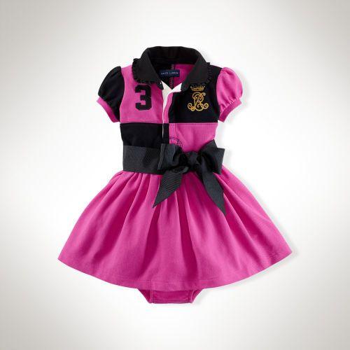 Ralph Lauren Color-Blocked Cotton Dress