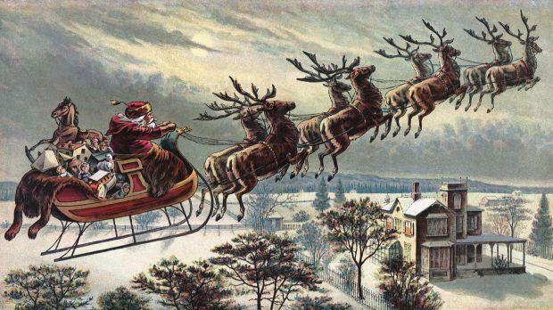 As renas do Pai Natal (Papai Noel)
