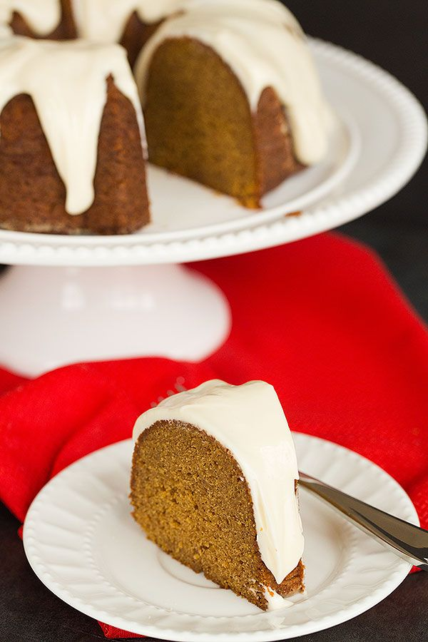 Cream cheese icing, Bundt cakes and Gingerbread on Pinterest