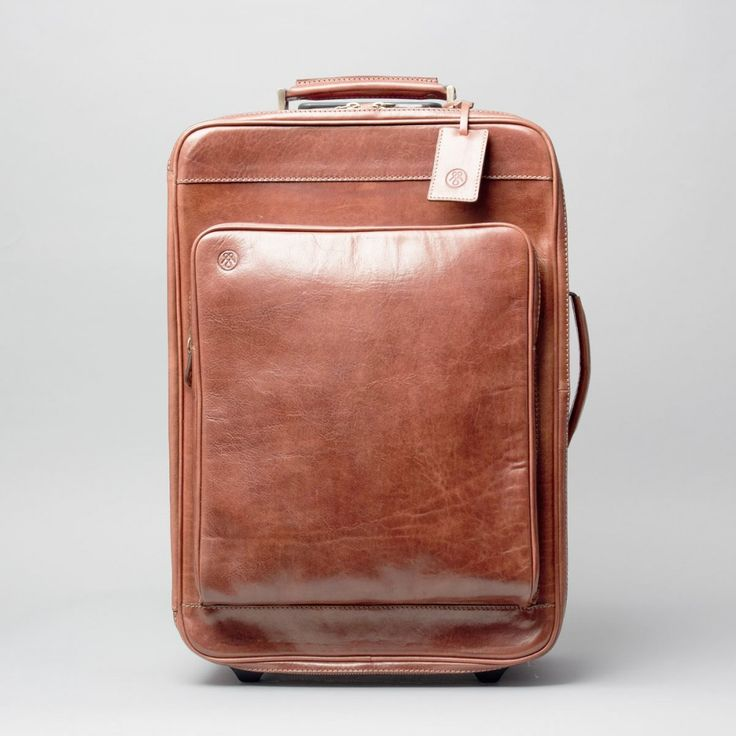 The Piazzale Wheeled Leather Trolley Case £540.00