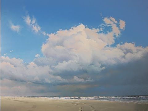 Painting tips and tricks tutorial. 3 Tips On Painting Great Clouds in Oil or Acrylic by Tim Gagnon. - YouTube