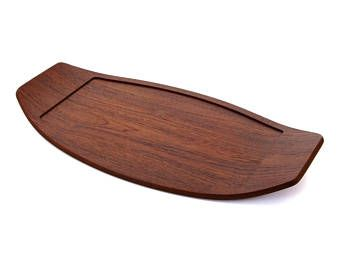 LARGE TEAK TRAY by Digsmed, 1960s. Scandinavian mid-century modern design. Large vintage teak serving tray in excellent vintage condition