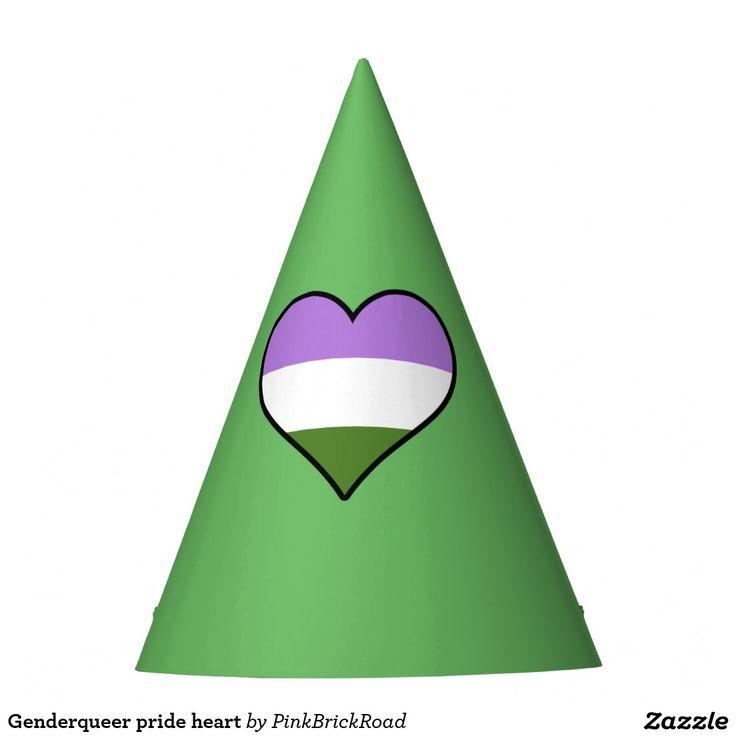 Genderqueer pride heart party hat