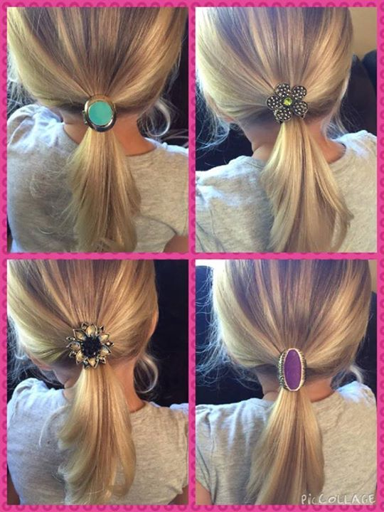 Great idea for #Paparazzi rings -- use them as fancy #ponytail decorations www.ilove5bling.com #5dollarhabit