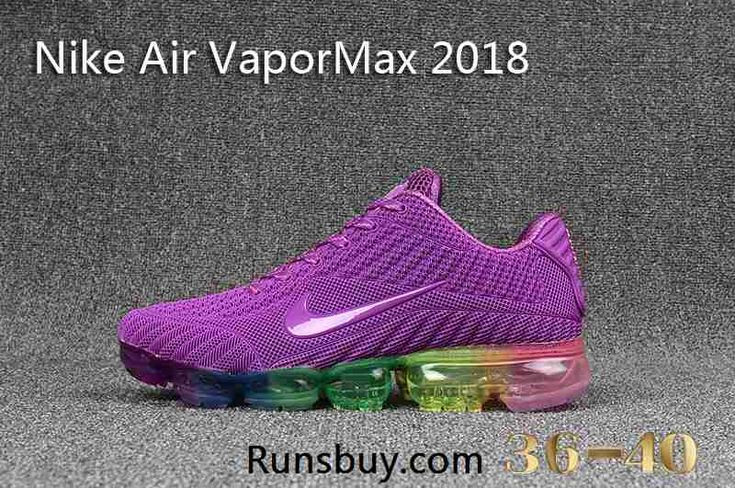 569ae5f0 Nike Air VaporMax 2018 KPU Purple Rainbow Sole Women Shoes | Shoes in 2019  | Nike air vapormax, Nike air, Nike