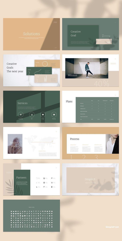 Glory Keynote Template Powerpoint Presentation Design Portfolio Design Layout Presentation Layout