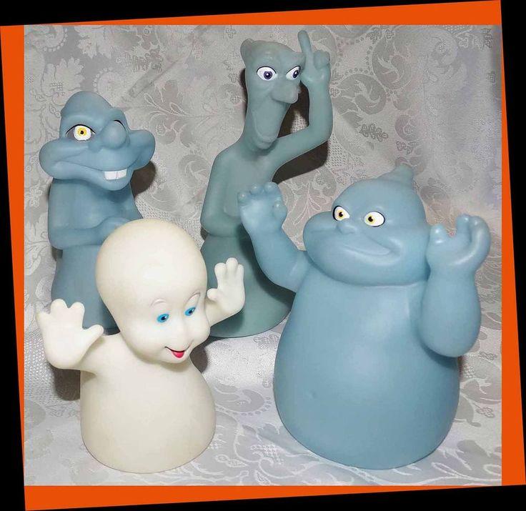 1995 Halloween Casper & Ghosts Glow in the Dark Figure Set Pizza Hut Harvey Toy