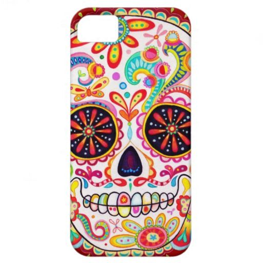 Day of the Dead Art iPhone 5 Case by thaneeyamcardle