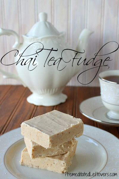 An easy recipe for chai tea fudge. It is made my steeping 4 chai tea bags in the milk used to make the fudge. The process creates a flavorful fudge.