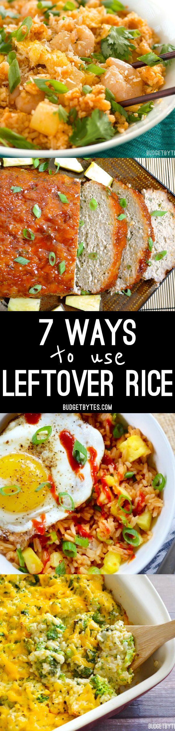Got leftover rice? Make sure it doesn't go to waste by using one of these 7 ways to use leftover rice.