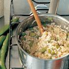 Risotto met tuinbonen en pancetta van The River Cafe - recept - okoko recepten