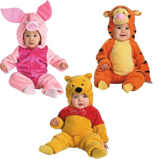 Winnie the Pooh is a perennial favorite of moms and kids alike. Moms of twins and triplets can gather the Ashdown Forest friends together again with Winnie the Pooh ($42), Tigger ($35), and Piglet ($50) costumes in infant and baby sizes.