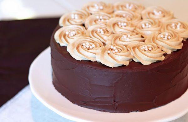#GlutenFree Mocha Cake with #Vegan Coffee Buttercream