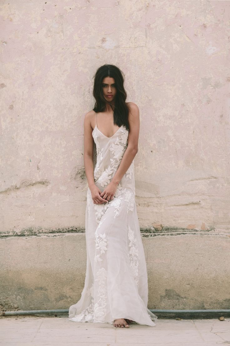 Houghton Beatrix gown- hand embroidered silk organza trapeze gown. Shot on location in Cuba!