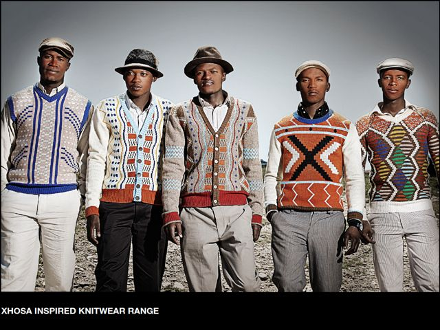 ... Xhosa beadwork designs into his range of wool and mohair garments for