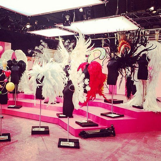 OMG ... backstage at the 2013 Victoria's Secret fashion show... SO. MANY. WINGS. I've died and gone to angel heaven....