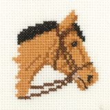 Bay Pony - Mini Cross Stitch Kit - Beginners
