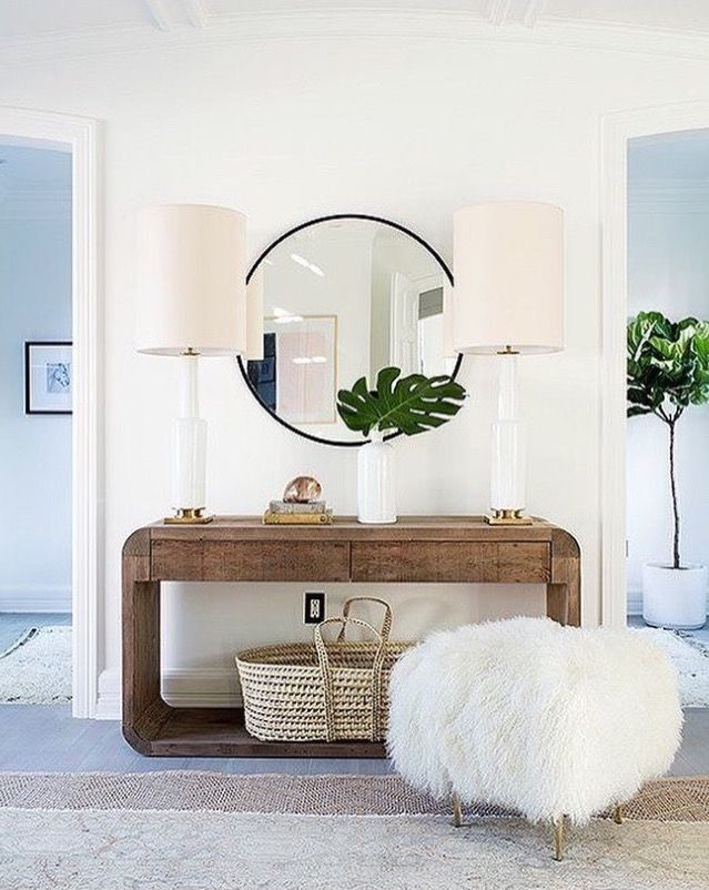 chic entry table with style. how to add style to an entry, how to style a foyer