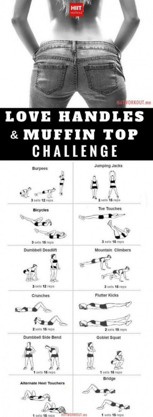 Love Handles And Muffin Top Workout For Women Gym