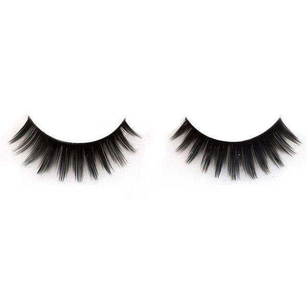 Baby Doll Full False Eyelashes Vegan Beauty Makeup Synthetic Thick Eye... (16 AUD) ❤ liked on Polyvore featuring beauty products, makeup, eye makeup and false eyelashes