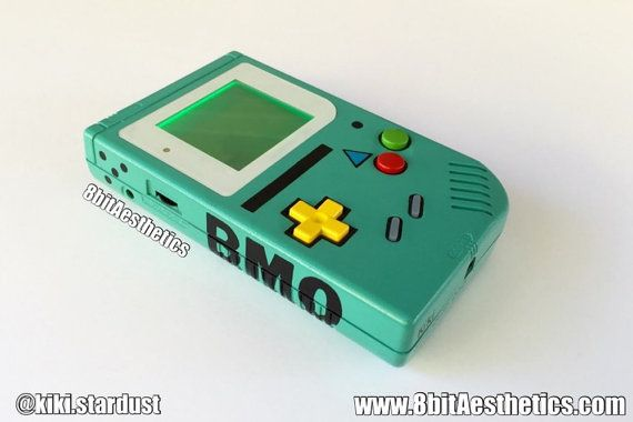 "Custom Black ""BMOBoy"" Backlit Original Nintendo Gameboy for Retro Gaming in the dark or LSDJ Chiptune"
