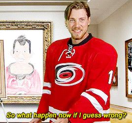 kids masterpiece: in which elias incorrectly guesses the drawing of cam ward is jeff skinner, and promptly fears punishment