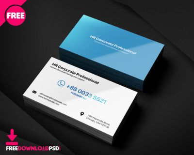 HR business card, human resource business card template, business