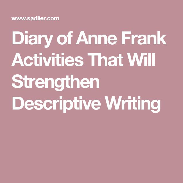 Anne Frank: The Diary of a Young Girl Lesson Plans for Teachers