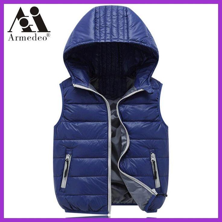children's vest vest girl / boy coat coat vest brand solid color children's jacket autumn and winter baby coat coat