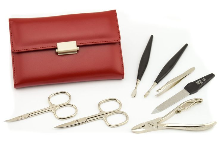 GLAMOROUS LEATHER MANICURE SET DIABOLO L BY NIEGELOH