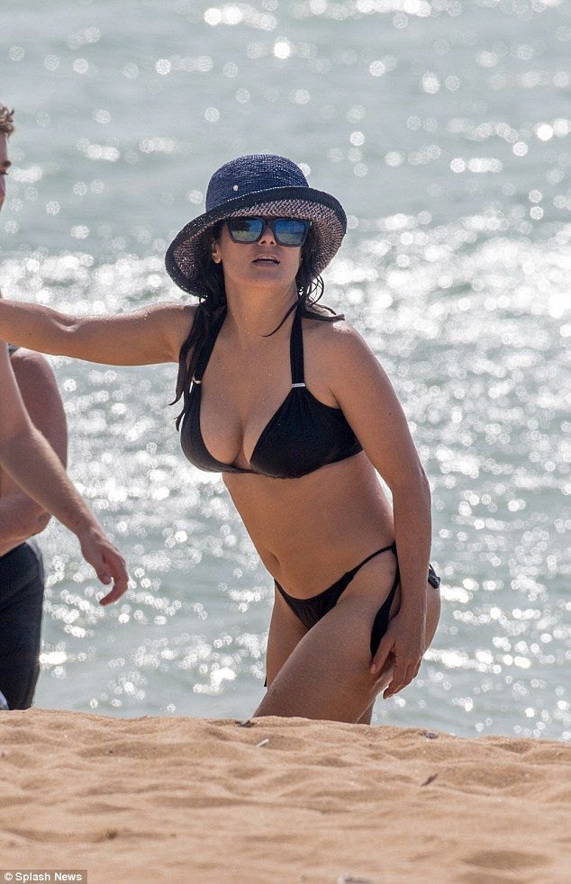Shapely: The sultry star looked pretty perfect in August of last year as she filmed Some Kind Of Beautiful in Hawaii