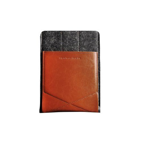 "Gary & Ghost iPad Mini 2/ Google Nexus 7 / Samsung Tab2 7"" Sleeve Case Cover by Pure Wool Felt and Vegetable Tanned Leather with Stand Up Feature (Dark Wool Felt and Brown Leather) by D-Park, http://www.amazon.co.uk/dp/B00BMMAFGO/ref=cm_sw_r_pi_dp_lBjvtb0M9H9T3"