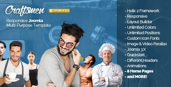 ThemeForest - Craftsmen: Joomla Template for Every Business Free Download