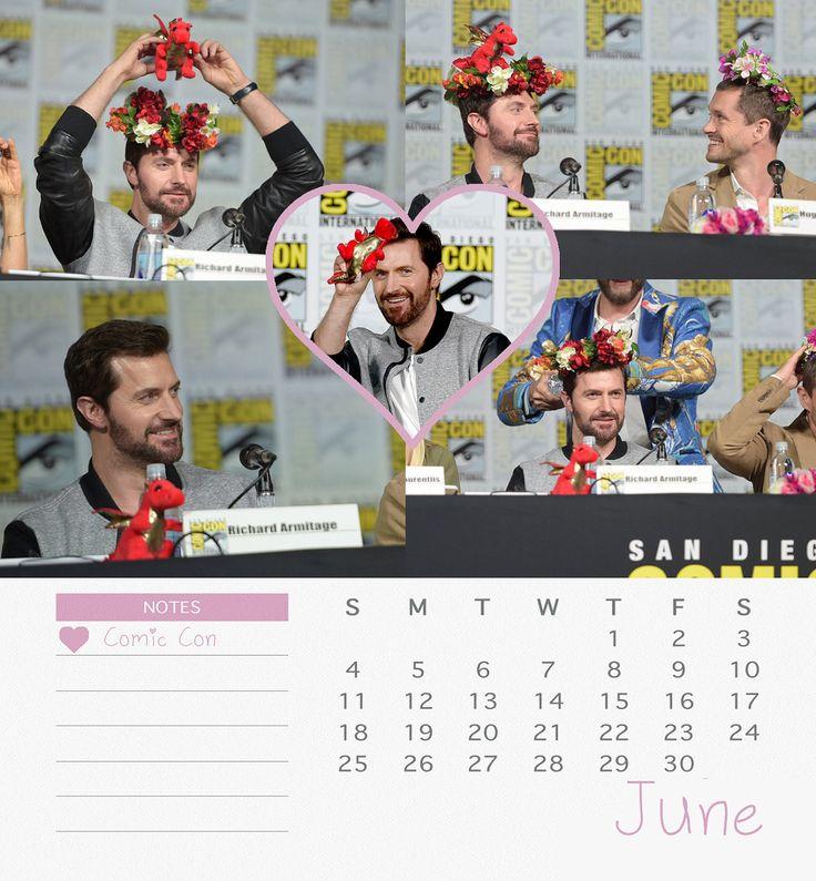 Richard Armitage 2017 Calendar - June
