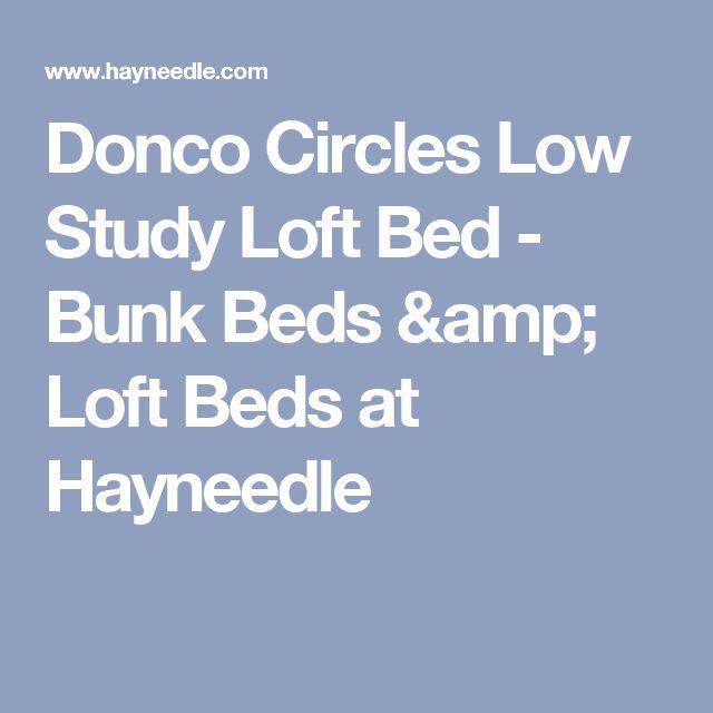 Donco Circles Low Study Loft Bed - Bunk Beds & Loft Beds at Hayneedle