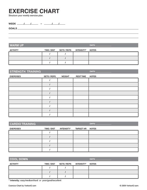 Exercise Plan Template Hereu0027S The Best Free Workout Log Template - workout sheet
