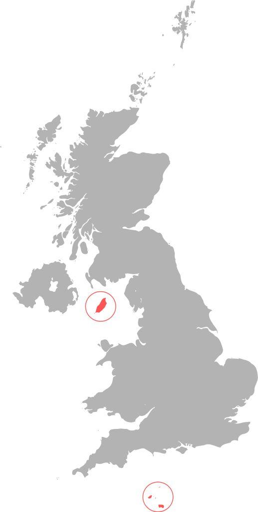 Location of the Crown dependencies